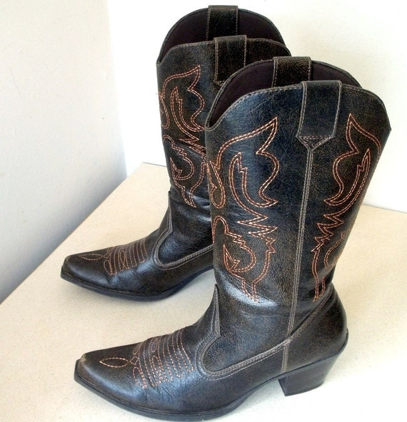 Vintage Splash Cowgirl Boots size 6.5 Gold and brown