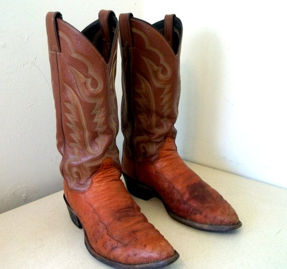 Vintage Distressed Justin Cowboy Boots size 8 D or Cowgirl 9.5