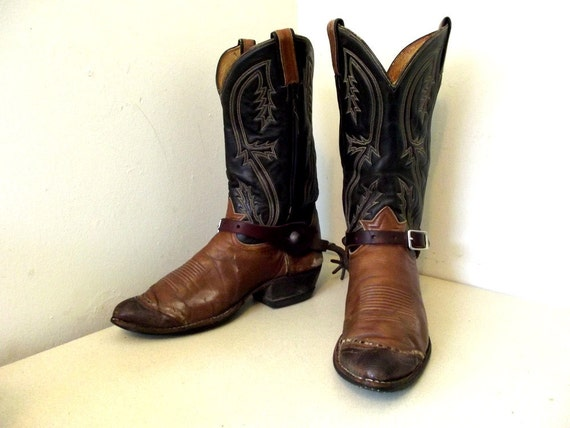 Vintage Authentic Cowboy Boots Tony Lama brand with working