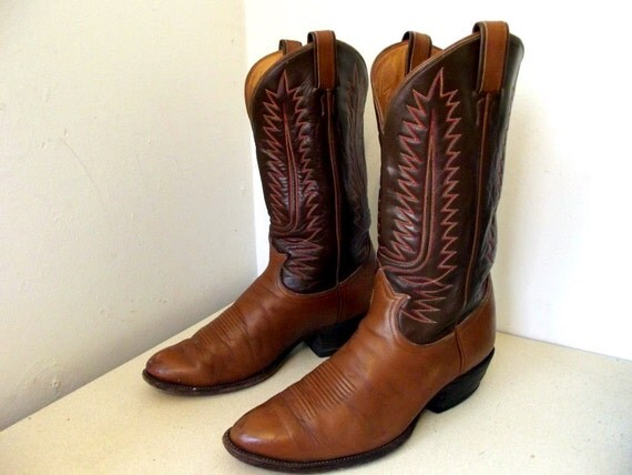 Vintage Tony Lama brand Cowboy Boots in a size 11 D