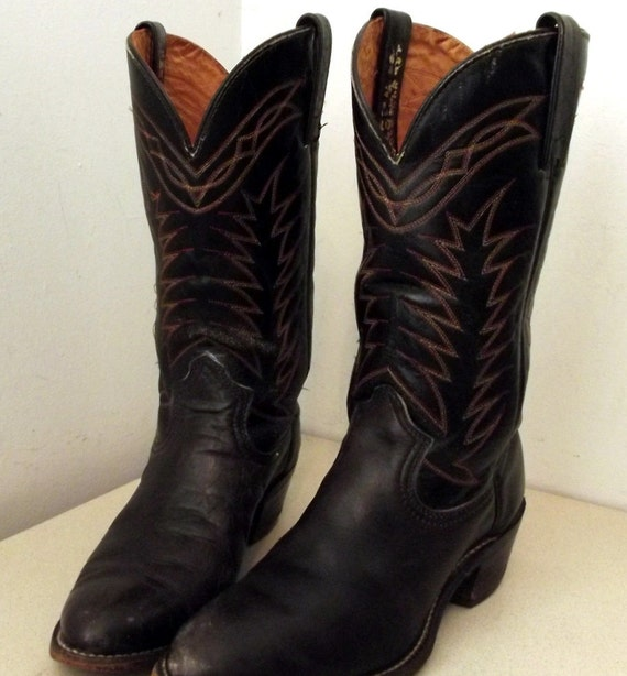 Very Cool Vintage Durango West Cowboy Boots size 8.5 D or Cowgirl size 10 D