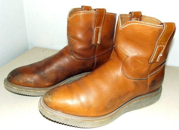 Vintage Altered Short Half Cowboy Boots justin brand
