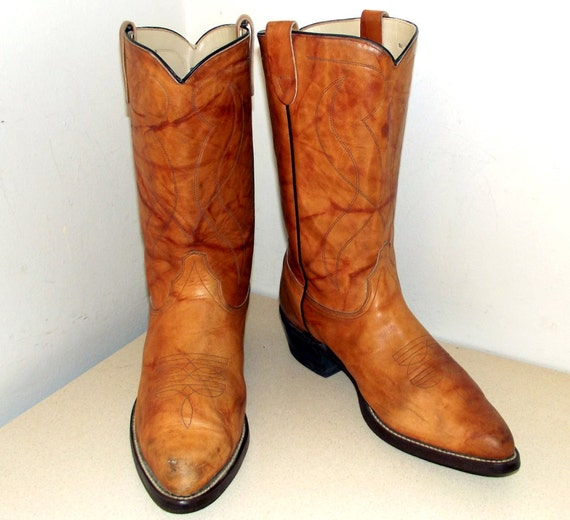 Vintage 1970s Texas Brand Cowboy Boots Mens Size 12 Ee Wide