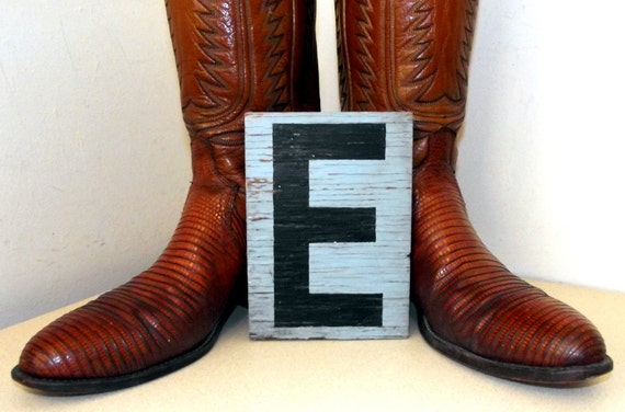 Old Double Sided Letter Sign E and N