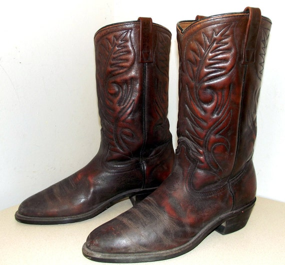 Pecos Red Wing Shoe Cowboy Boots great by honeyblossomstudio