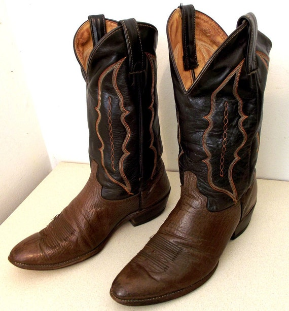 Two Tone brown Abilene brand cowboy boots size 10 D or cowgirl size 11.5