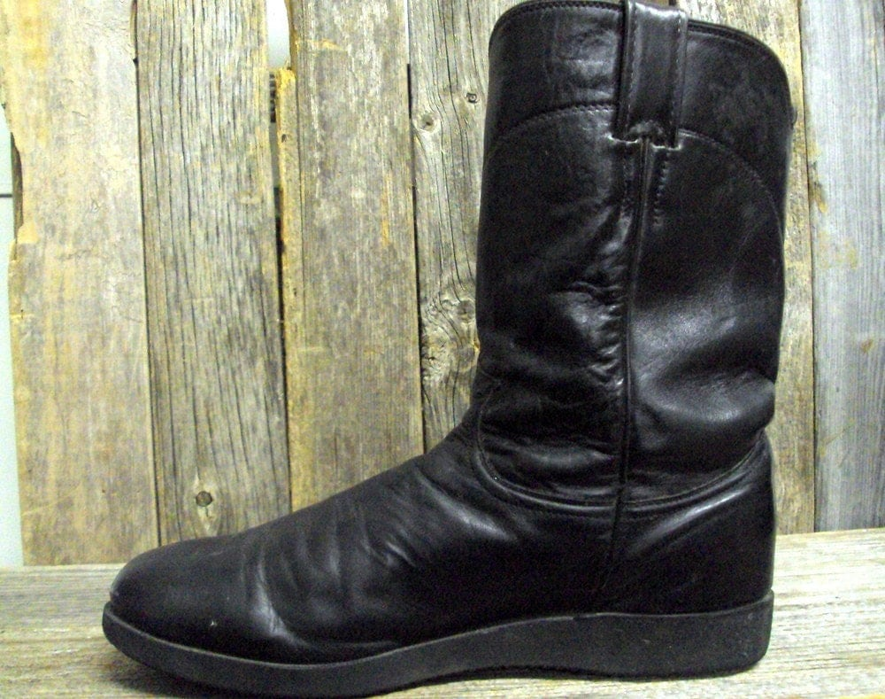 comfortable black justin cowboy boots by
