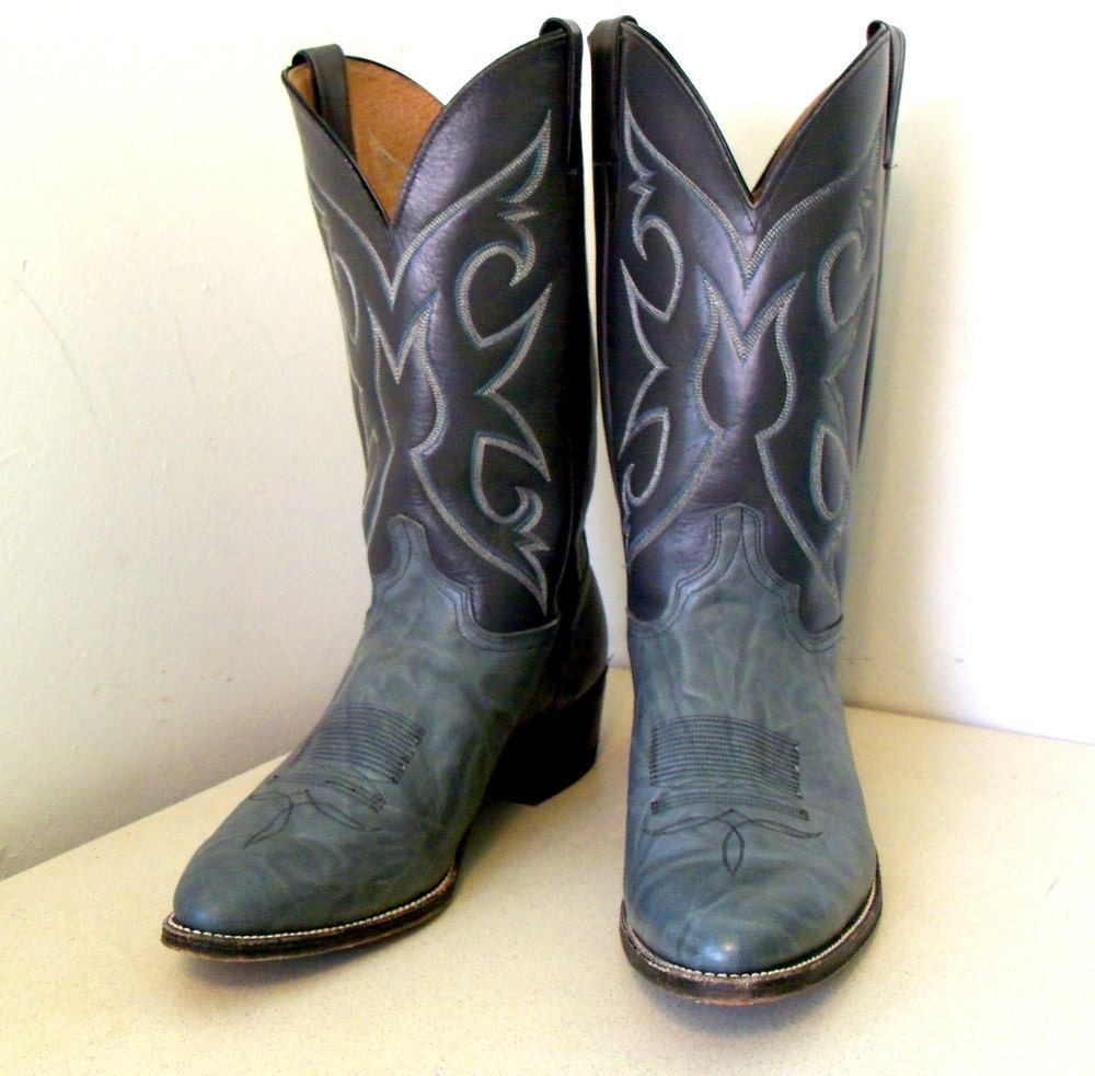 vintage abilene gray cowboy boots size 13 ee