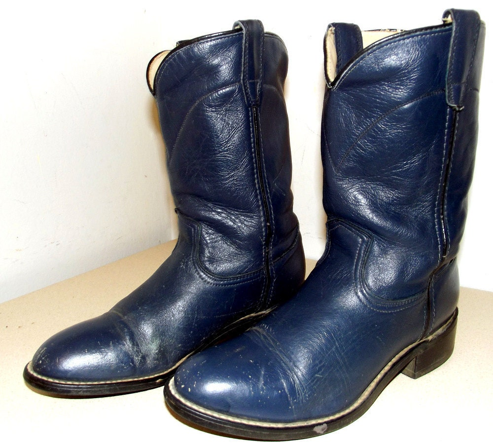 Acme brand Navy Blue Cowboy boots size 6 D or cowgirl size 7.5