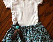 Baby Girl Skirt and Onesie Outfit - 0-3 months