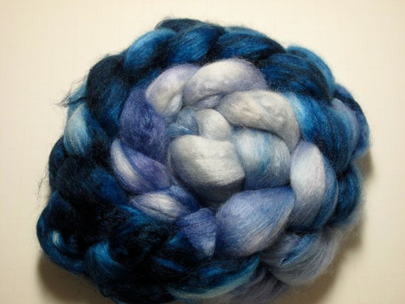 Merino/Cashmere/Bombyx 60/20/20 Combed TOP 3 oz - Seattle Sky 1