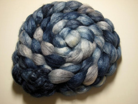 Blue Faced Leicester/Tussah Silk 50/50 Combed TOP 5 oz - Summer Wind 2