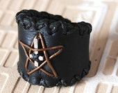 Leather ring - Fallen angel ds-06