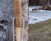 Woodland Walking stick - 60 inch maple Hiking staff with natural finish