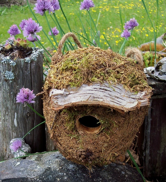 Birdhouse with Free Shipping, Mossy Eco-friendly  wren house