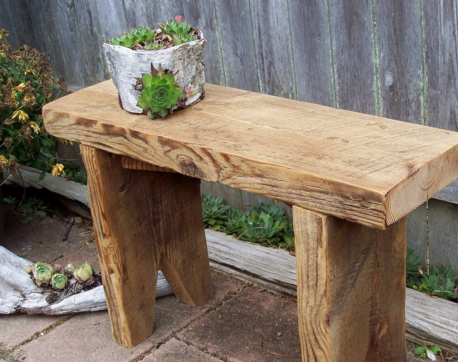 Garden Bench Plant Stand Recycled Barn Wood