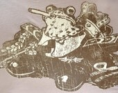 Smoking Frog Prince on Women's Alternative Apparel T-shirt  MEDIUM (Clearance)