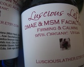 DMAE and MSM Facial Toner With Organic Aloe - 95 Percent Organic, Vegan Paraben Free