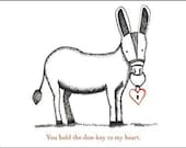 Donkey Love Card