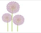 Allium Note Cards (Set of 10)