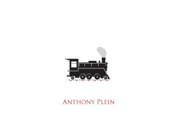 Steam Engine Personalized Stationary (Set of 10)