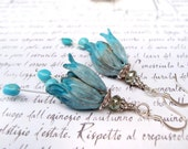 Ombre Tulip earrings with Sleeping Beauty Turquoise