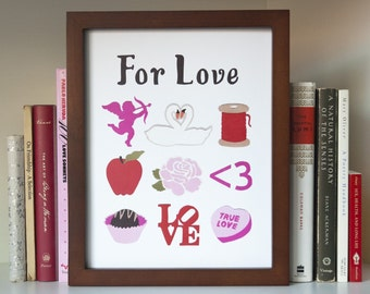 For Love Print