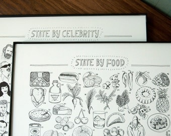 State-By-Food/State-By-Celebrity 2 Print Set