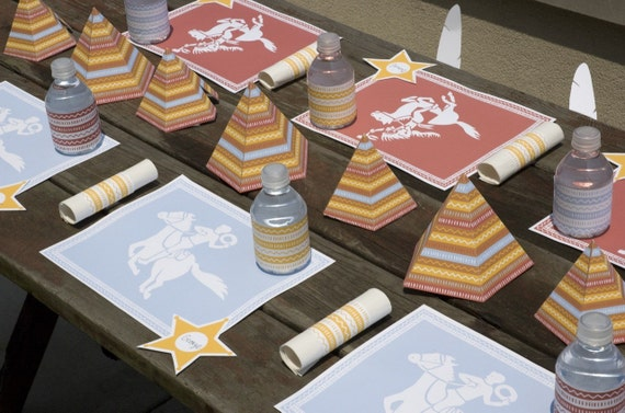PRINTABLE Cowboy and Indian Party