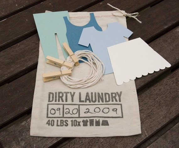 BLUE Dirty Laundry Guest Book Kit