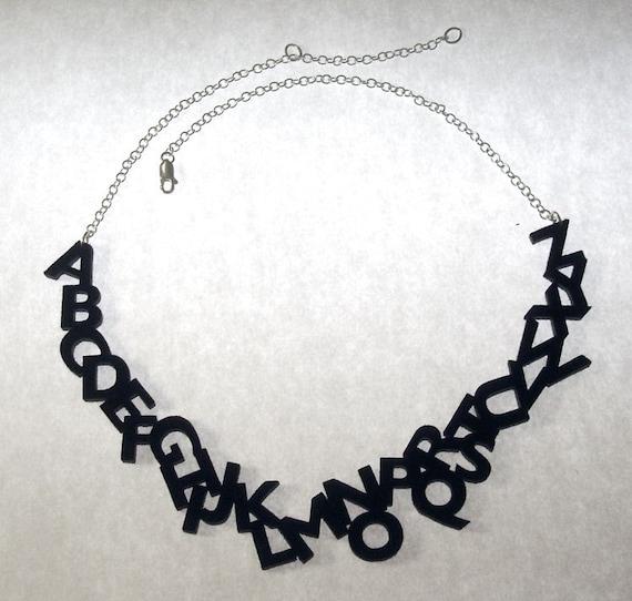 Felt Alphabet Necklace