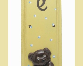 Mezuzah room children Polymer clay Bear