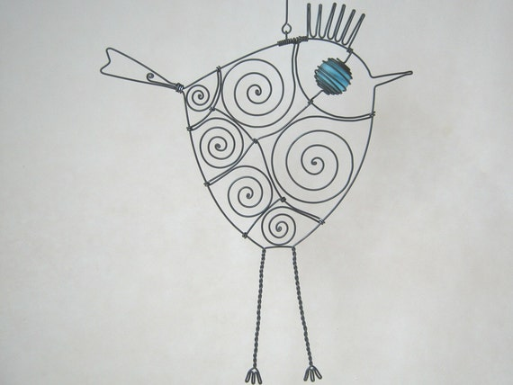 Another Turquoise - Eyed Wire Bird