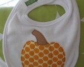 sweet pumpkin bib