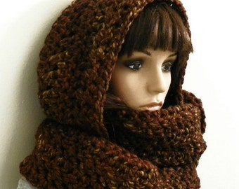 Crochet Pattern Hooded Scarf With Ears : hooded scarf: NEW 953 CROCHET HOODED SCARF WITH EARS