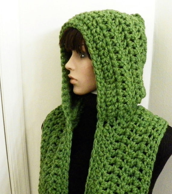 Hooded Scarf Knitting Pattern For Beginners : CROCHET PATTERN PDF for Pixie Chunky Hooded by HandmadeCottage