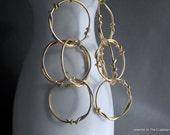 Gold Earrings, Gold Filled Hoops, Dangle Earrings, Abstract Earrings, Earrings Abstract, Earrings Gold