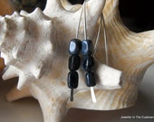 Blue Sodolite Blue Earrings, Modern Sodolite and Silver Earrings