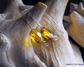Yellow Citrine Earrings, Faceted Citrine Drops, Under 25 Dollars, Earrings Yellow, Earrings Citrine