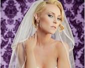 30 Inch Loopty Lue Wedding Veil with an 18 Inch Blusher