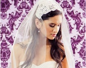 NEW 30 Inch Grande Lace Bridal Cap Wedding Veil