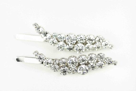 Bridal Hair Pins, Bridal Hair Comb, Swoop Sparkle Bobby Pins