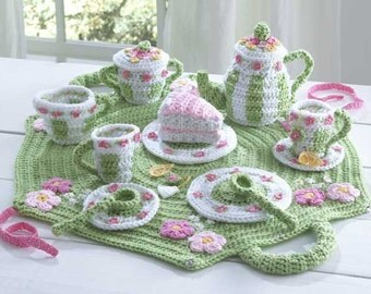 Tea Set Crochet Pattern PDF