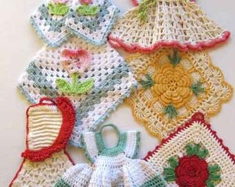 Premium Vintage Potholders Crochet Pattern PDF