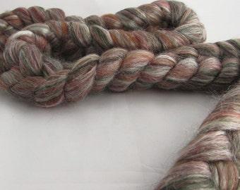 Merino/Tussah Silk top, 'Holly', 4 oz.