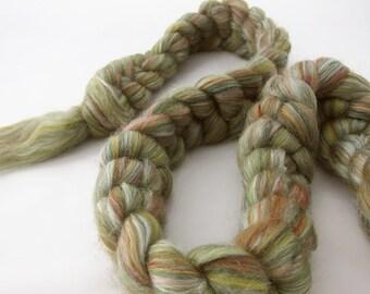 Merino/Tussah Silk top, 'Foliage', 4 oz.