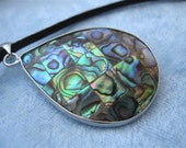 Abalone Pendant Mosaic Necklace Shell