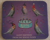 ScooterWare Birthday Mousepad (Happy Birthday From The Whole Flock)