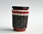 Hand Knit Sock Monkey Coffee Cup Mug Cozy Sleeve