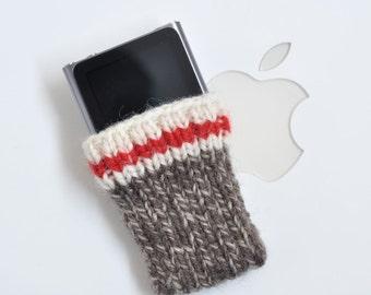 IPod Nano 6 Hand Knit Sock Monkey Sock Cozy Cover Case